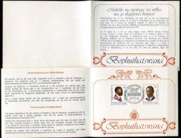 Bophuthatswana Mi# 35-6 First Day Card - President - Bophuthatswana
