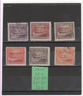 COSTA RICA 1911 YT N° 81 à 86 - Costa Rica