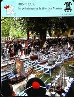 HONFLEUR - Fête Des Marins - Photo Pélerinage Avec Les Maquettes Bateaux - FICHE GEOGRAPHIQUE - Ed. Larousse-Laffont - Barcos