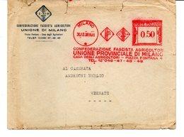 1938 EMA Affrancatura Meccanica Rossa Freistempel Milano Confederazione Fascista Agricoltori Unione Prov. Milano - Machine Stamps (ATM)