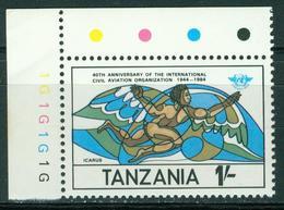 Bm Tanzania 1984 MiNr 246 MNH | 40th Anniv Of I.C.A.O., Icarus In Flight - Tanzania (1964-...)