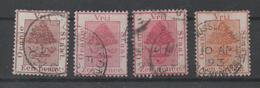 Orange Free State, Used, 1869, Michel 1-3, 2 Types Of Red - Oranje-Freistaat (1868-1909)
