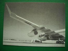 1231 CARTE AVION Airbus  A340  Rare Carte De Vœux De Maryse Bergé-Lavigne Sénateur De La Haute-Garonne  Aviation - Altri