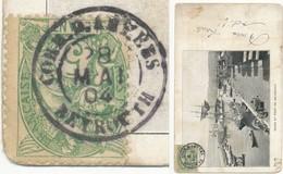 """""""CACHET QUI OFFRE LA PARTICULARITE DE SE PRESENTER TOUJOURS AVEC LE BLOC DATEUR RENVERSE"""" SIC BERTRAND SINAIS CORR.D'AR - Postmark Collection (Covers)"""