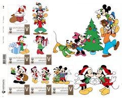 Ukraine 2019, Christmas, Disney Cartoon Characters, Sheetlet Of 6v - Ukraine