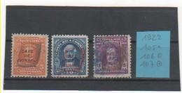 COSTA RICA 1922 YT N° 105-106-107 Neuf* Et Oblitéré - Costa Rica