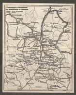 CARTE PLAN 1927 - PYRÉNÉES - PROMENADES Et EXCURSIONS De BAGNERES De LUCHON - ROUTES SENTIERS - Mapas Topográficas