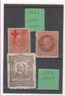 COSTA RICA 1922-23 YT N° 109-110-111 Neuf* - Costa Rica