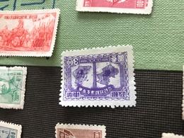 CINA LA MAPPA VIOLA 1 VALORE - Stamps