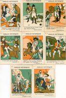 Lot De 8 Chromos  - Tisane Du Laboureur, Perpignan - Paroles Historiques- Napoléon, Bart, Daumesnil, Calonne, Henri - Chromos