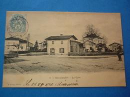 54 - CPA MARAINVILLER   LA GARE    VOYAGEE 1906 PRECURSEUR - Autres Communes