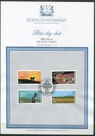 Bophuthatswana Mi# 72-75 First Day Sheet - The Lord's Passion, Easter Stamps - Bophuthatswana