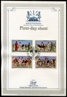 Bophuthatswana Mi# 104-7 First Day Sheet - The Lord's Passion, Easter Stamps - Bophuthatswana