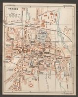 CARTE PLAN 1927 - TARBES - PRAIRIE Des HARAS ARSENAL Éts GACHE CASERNES CHATEAU De ROTHSCHILD CHATEAU De FOULD - Mapas Topográficas