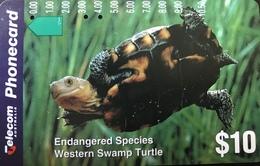 AUSTRALIE  -  Telstra Phonecard  - Endangered Species  -  Western Swamp Turtle  -  $ 10 - Australië