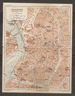 CARTE PLAN 1926 - TOULOUSE - MANUFACTURE De TABACS USINE ÉLECTRIQUE ARSENAL ANCIEN MOULIN De BAZACLE - Mapas Topográficas