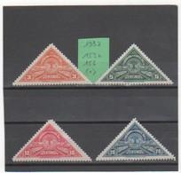 COSTA RICA 1932 YT N° 153 à 156 Neufs(*) - Costa Rica