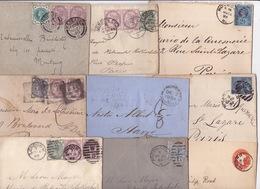 21023# GRANDE BRETAGNE ENGLAND LOT 24 LETTRES & CARTES + 1 DEVANT VICTORIA EDOUARD VII GEORGE V EDOUARD VIII COVER LETTE - Collections