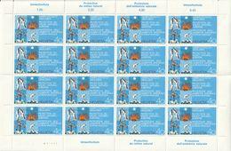 Timbres Suisse Yvert 908 De 1972 Protection De L'environnement Feuille De 16 Neufs ** - Nuovi