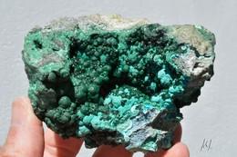 Malachite Sur Chrysocolle, Congo - Minéraux