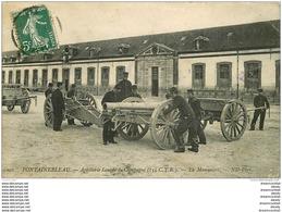 77 FONTAINEBLEAU. Militaires La Manoeuvre De L'Artillerie Lourde 1909 - Fontainebleau