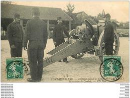 77 FONTAINEBLEAU. Militaires Artillerie Lourde Disposition De Combat 1910 - Fontainebleau
