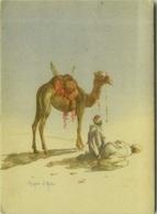 LYBIA - ART POSTCARD 1940s - PRAYER IN THE DESERT - POSTA MILITARE 210 (BG8294) - Libye