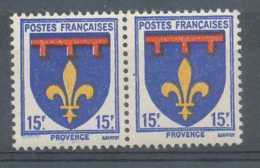 [69653]TB//**/Mnh-N° 574-cu, Provence, Taches Bleues En Marge Inférieure Et Tahces Blanches Dans Le Rouge. - Errors & Oddities