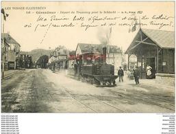 WW 88 GERARDMER. Départ Du Tramway Pour La Schlucht 1913 - Gerardmer
