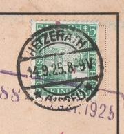 Deutsches Reich Karte Mit Tagesstempel Hetzerath * Eifel * 1925 Wittlich Land LK Bernkastel Wittlich - Briefe U. Dokumente