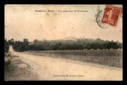55 - MONTFAUCON - VUE PRISE ROUTE DE CONSENVOYE - CARTE COLORISEE - EDITEUR COLLIN - VOIR ETAT - Sonstige Gemeinden