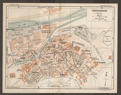 CARTE PLAN 1927 - PERPIGNAN - CASERNES MARCHÉ Aux FOURRAGES ARSENAL ESPLANADE LA MONNAIE PRISON - Mapas Topográficas