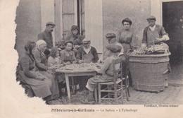 45-PITHIVIERS EN GATINAIS LE SAFRAN L EPLUCHAGE TACHE A GAUCHE VOIR SCAN - Pithiviers