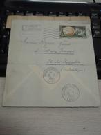 Morceau Enveloppe   Ile Des Kerguelen (Antarticque). Timbre PLEUMEUR-BODOU 1963 INCONNU - Marcophilie (Lettres)
