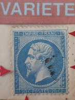 R1917/399 - NAPOLEON III N°22 Sur ✉️ - TULLE > MEYMAC - SUPERBE VARIETE 121F3 (RARE +++) ➤➤➤ RETOUCHE DU POURTOUR - 1862 Napoléon III