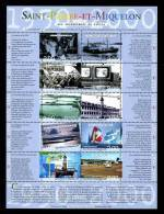 SPM MIQUELON 2000 Bloc N° 9 ** Neuf MNH Superbe C 20 € Bateaux Boats Phare Voiliers Sailboat Transports - Hojas Y Bloques