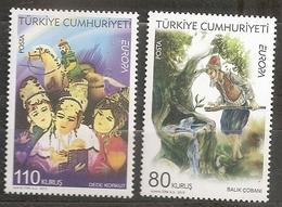Turquie 2010 N° 3513 / 4 ** Europa, Emission Conjointe, Livre Pour Enfant, Conte, Légende, Eau, Source, Bébé, Cheval - 1921-... Republiek