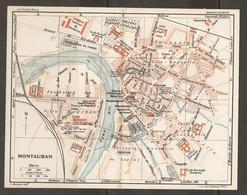 CARTE PLAN 1927 - MONTAUBAN - CASERNES ARCHIVES VÉLODROME GARE Des CHEMINS De FER DÉPARTEMENTAUX - Mapas Topográficas