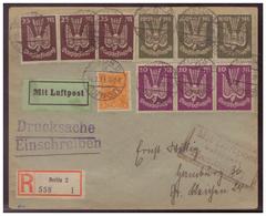Dt- Reich (006531) Einschreiben Drucksache, Luftpost Gelaufen Nach Hamburg Von Berlin Am 31.7.1923 - Storia Postale