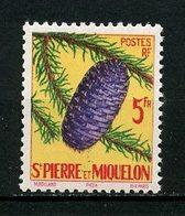 SPM MIQUELON 1958 N° 359 ** Neuf MNH Superbe C 4,80 € Flore Arbre Cônes Trees Flora Picéa - Nuevos