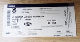 SOCCER Football Ticket SLOVENIAN League  NK Olimpija : NK Domzale 5.4.2011 Slovenia - Tickets D'entrée