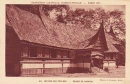 Exposition Coloniale Internationale Paris 1931, Section Des Pays Bas, Maison De Sumatra (pk69554) - Exposiciones