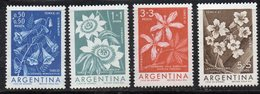 T1763 - ARGENTINA 1960 , Fiori  N.  629/32  ***  MNH - Argentina