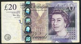 GREAT BRITAIN P392a 20 POUNDS 2006 Signature BAYLEY  VF NO P.h. - 1952-… : Elizabeth II