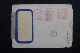 ESPAGNE - Enveloppe Commerciale De Barcelone En 1943 Avec Contrôles Postaux, Affranchissement Mécanique - L 61766 - 1931-50 Briefe U. Dokumente