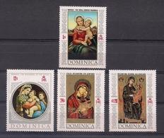 DOMINICA 1968 - VIRGENES DE LA ESCUELA BIZANTINA - YVERT Nº 236**+ 3 SELLOS DE LA HOJITA BLOQUE - Dominica (1978-...)