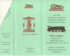 Catalogue PAYA 1989 Nostalgisches Spielzeug Tin-Plate Trenes Eléctricos Juguetes - Boeken En Tijdschriften