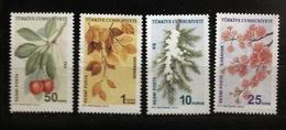Turquie 2012 N° Service 300 / 3 ** Saisons, Noël, Sapin, Neige, Automne, Printemps, Été, Cerisier, Cerise, Fleurs, Hiver - 1921-... Republiek