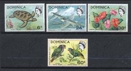 DOMINICA 1970 - FAUNA Y FLORA - TORTUGA - YVERT Nº 292/295** - Tortues