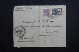 BRÉSIL - Enveloppe D'Hôtel Du Copacabana Palace De Rio De Janeiro Pour Paris En 1935, Cachet Condor/ Zeppelin  - L 61769 - Briefe U. Dokumente